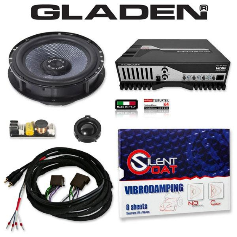 GLADEN ONE GOLF 4 Pack 1 Pasklare Audio Upgrade