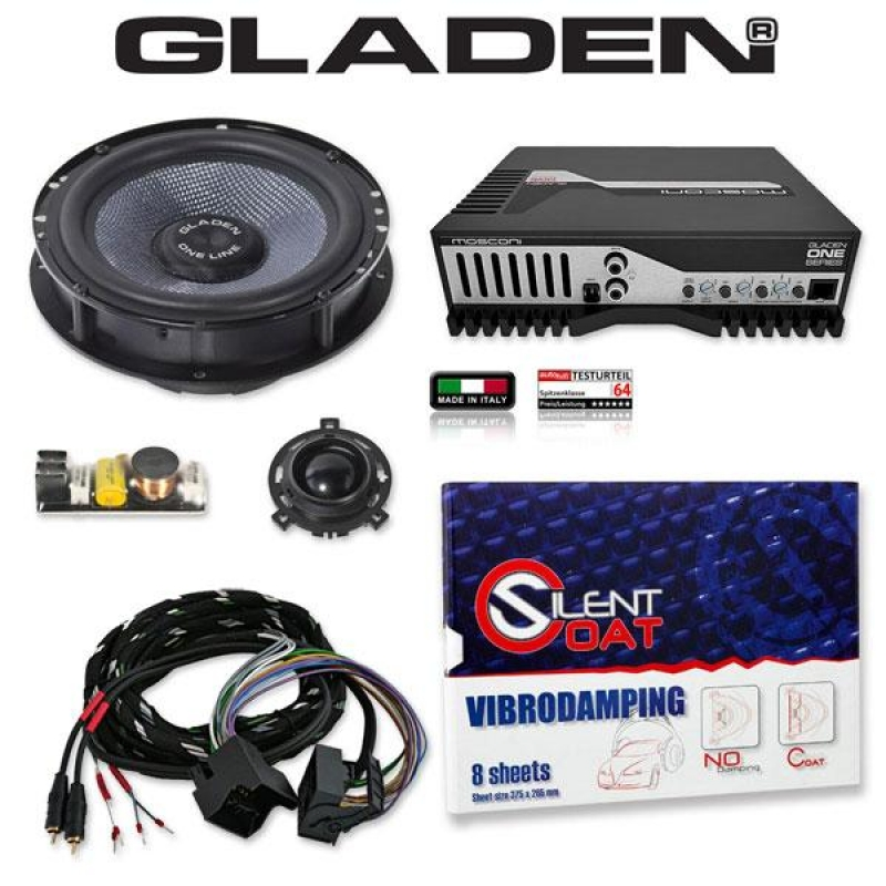 GLADEN ONE GOLF 6 Pack 1 Pasklare Audio Upgrade