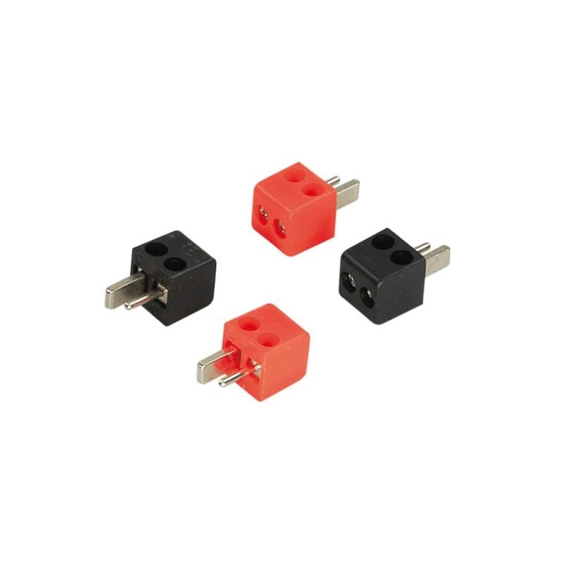 Speaker DIN plugs 2 x red / 2 x black > 2,5mm²
