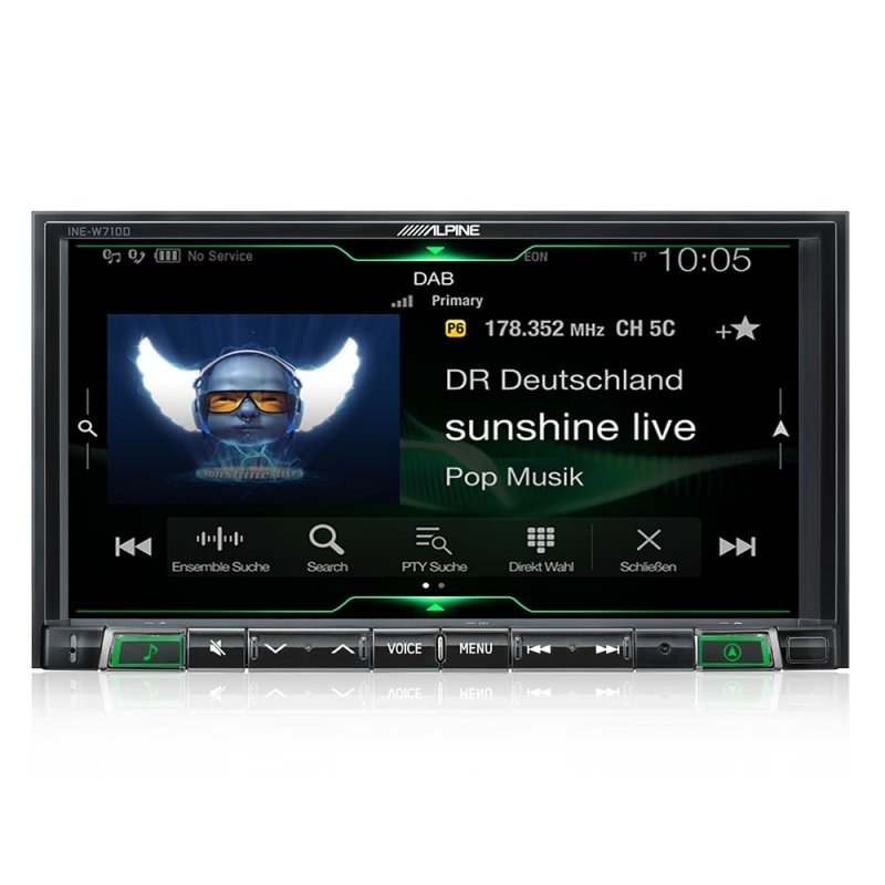 Alpine APILX702D - In-Dash Digital Media Receiver met Apple CarPlay