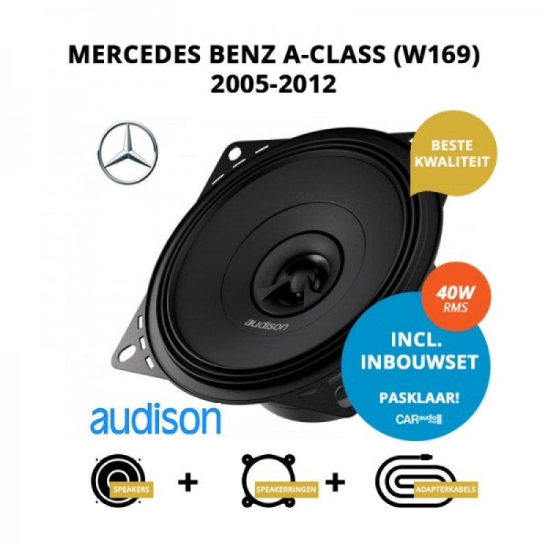 Premium speakers voor Mercedes Benz A-Class (W169) 2005-2012