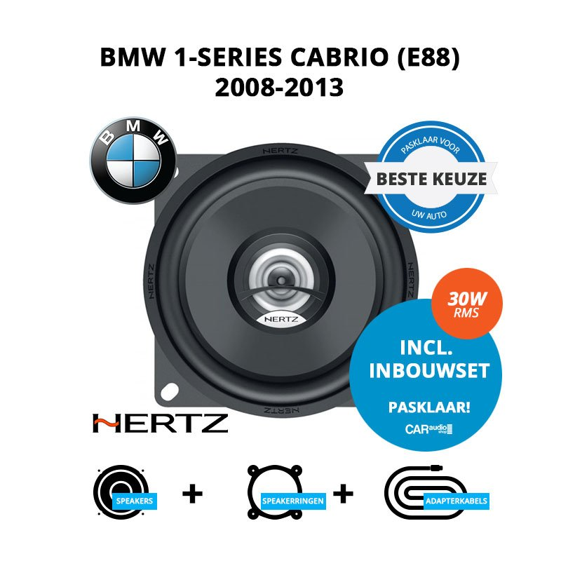 Beste speakers voor BMW 1-series cabrio 2008-2013 E88