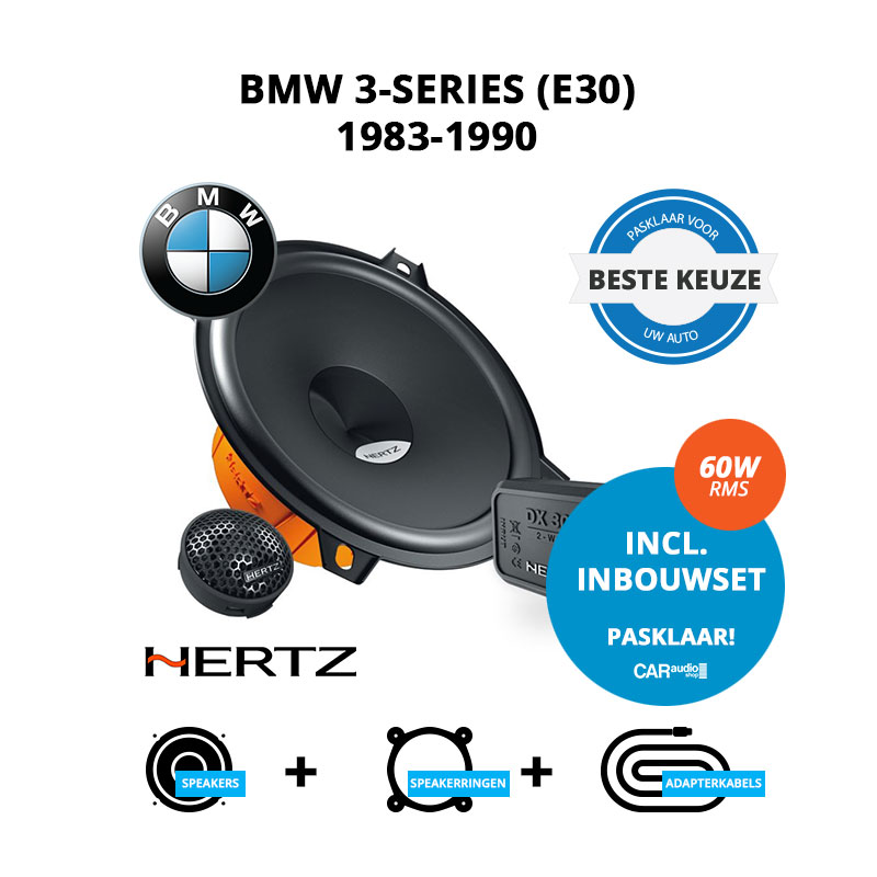 Beste speakers voor BMW 3-series 1983-1990 E30