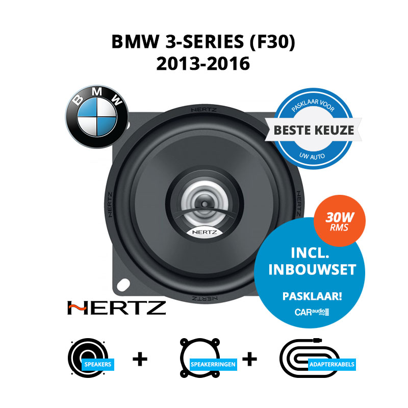 Beste speakers voor BMW 3-series 2013-2016 F30