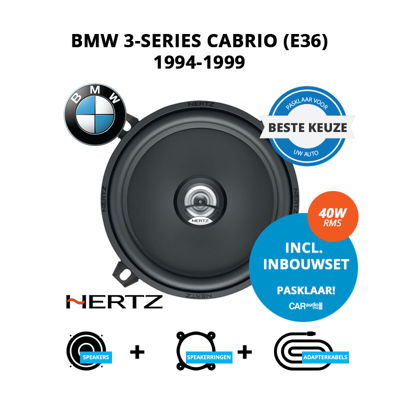 Beste speakers voor BMW 3-series Cabrio 1994-1999 E36