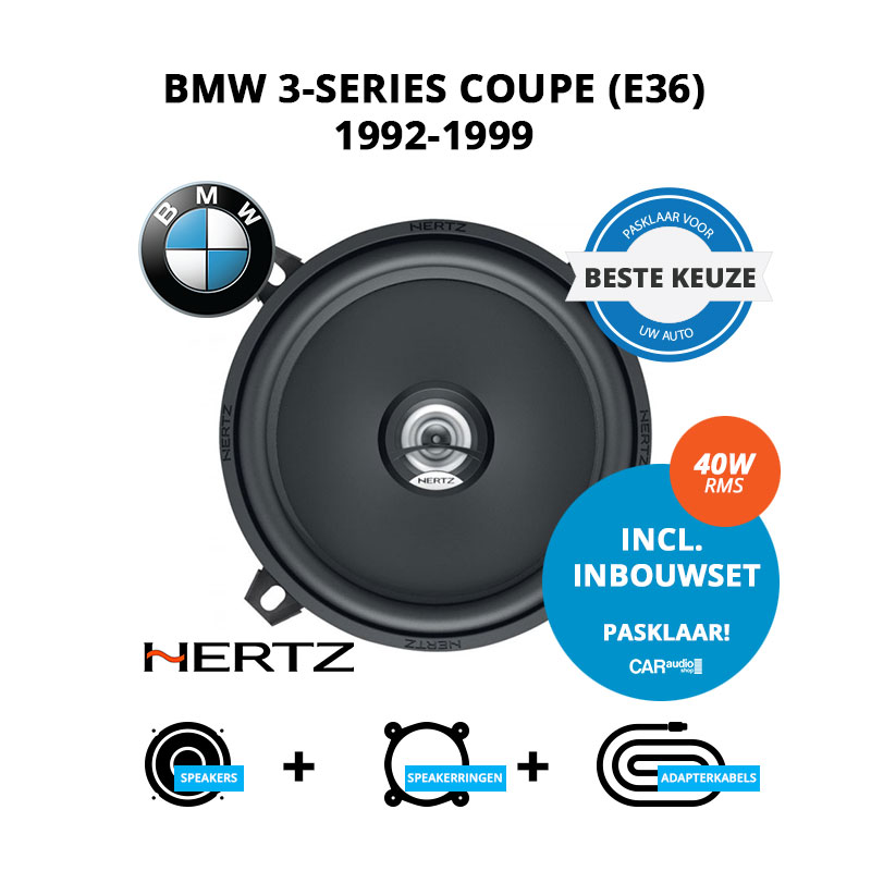 Beste speakers voor BMW 3-series Coupe 1992-1999 E36