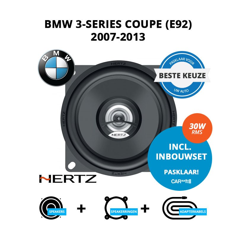 Beste speakers voor BMW 3-series Coupe 2007-2013 E92