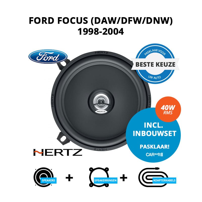 Beste speakers voor Ford Focus 1998-2004