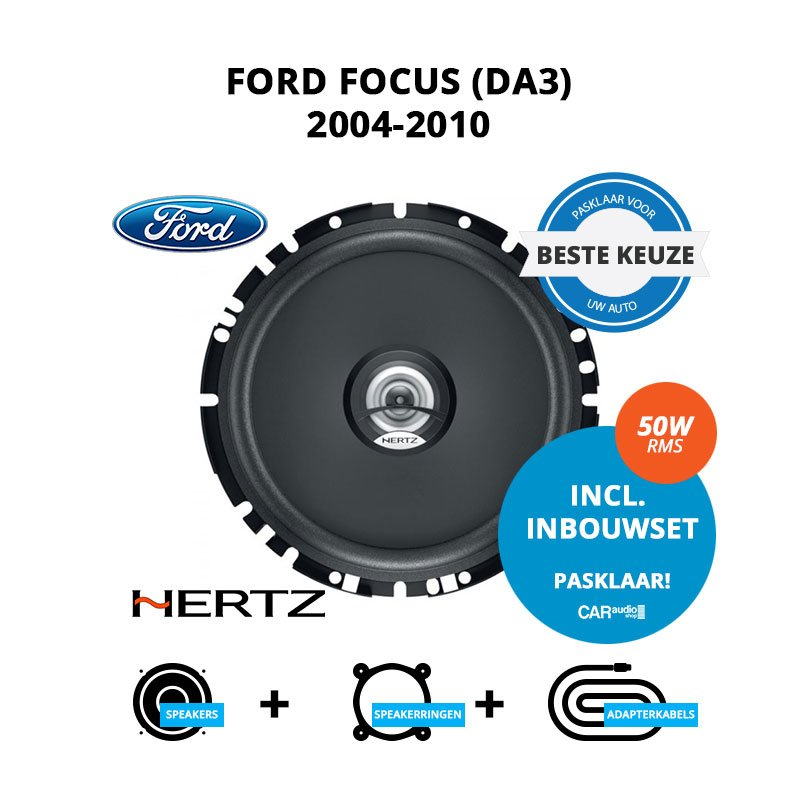 Beste speakers voor Ford Focus 2004-2010 (DA3)