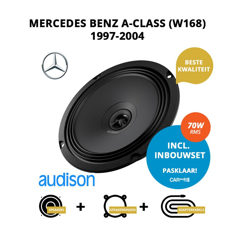 Premium speakers voor Mercedes Benz A-Class (W168) 1997-2004