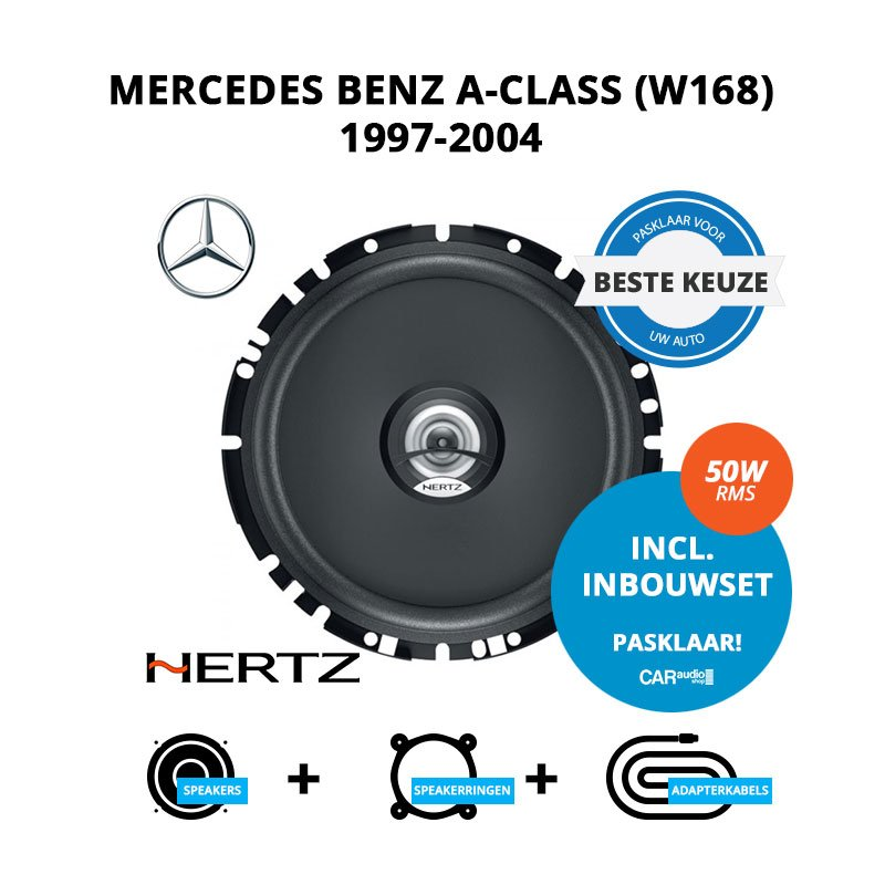 Beste speakers voor Mercedes Benz A-Class (W168) 1997-2004