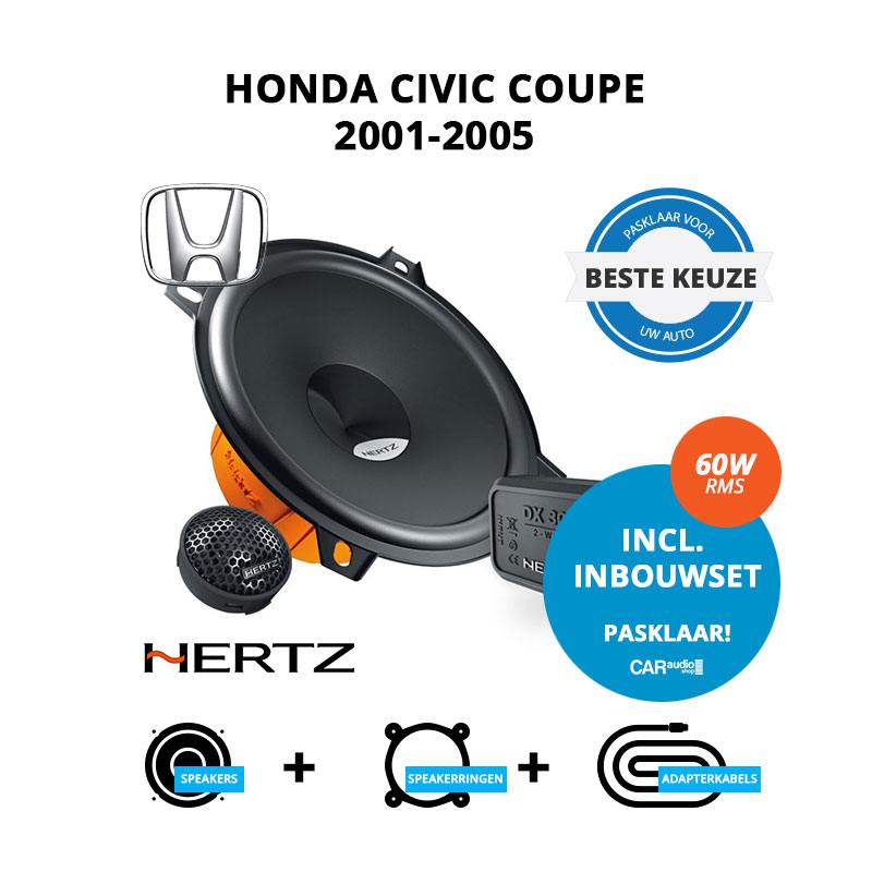 Beste speakers voor Honda Civic Coupe 2001 2005