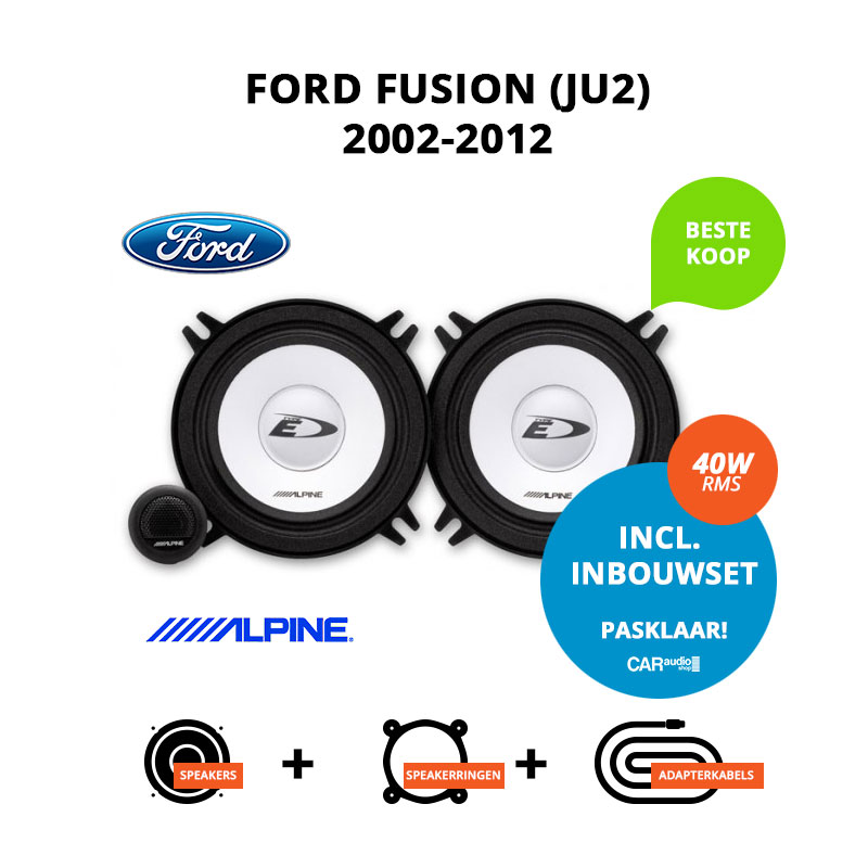 Budget speakers voor Ford Fusion 2002 2012 (JU2)