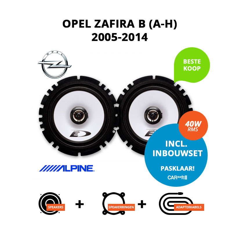 Budget speakers voor Opel Zafira (B) 2005 2014 (A H)