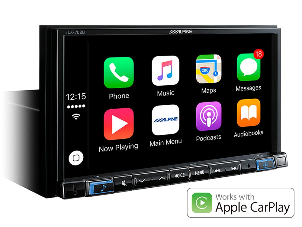 Alpine APILX702D In Dash Digital Media Receiver met Apple CarPlay