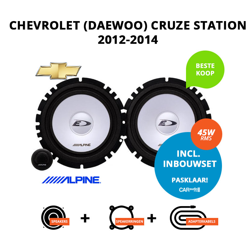 Budget speakers voor Chevrolet (Daewoo) Cruze Station 2012 2014