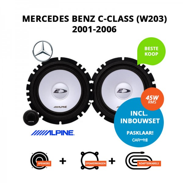 Budget speakers voor Mercedes Benz C Class (W203) 2001 2006