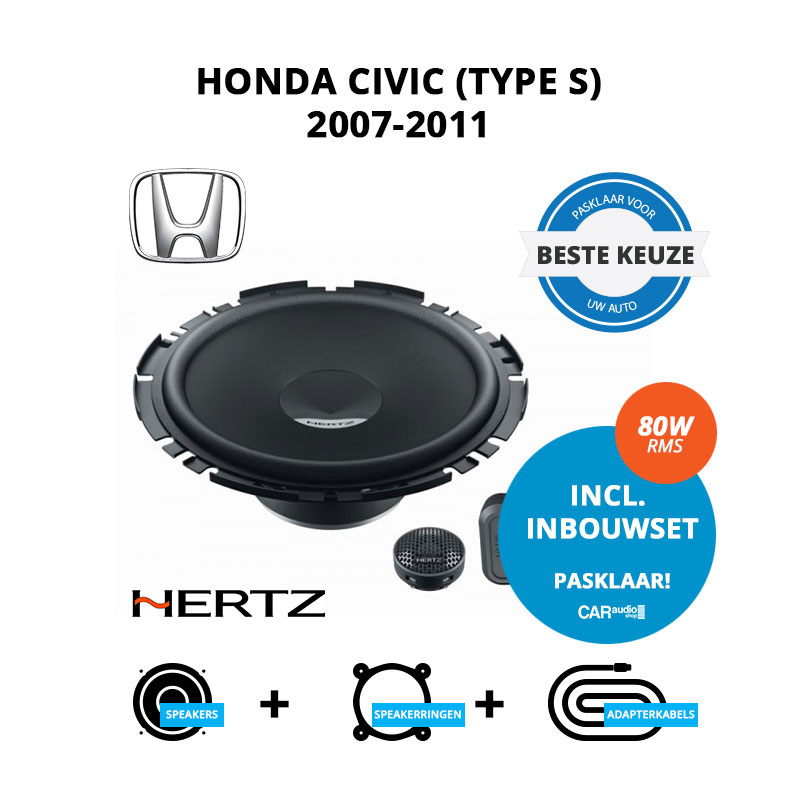 Beste speakers voor Honda Civic Type S 2007 2011