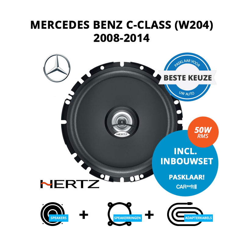 Beste speakers voor Mercedes Benz C Class (W204) 2008 2014
