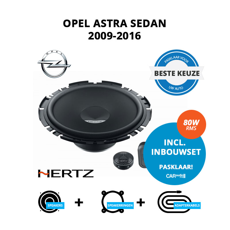 Beste speakers voor Opel Astra 2009 2016 Sedan