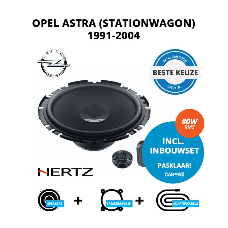 Beste speakers voor Opel Astra 1991 2004 Stationwagon
