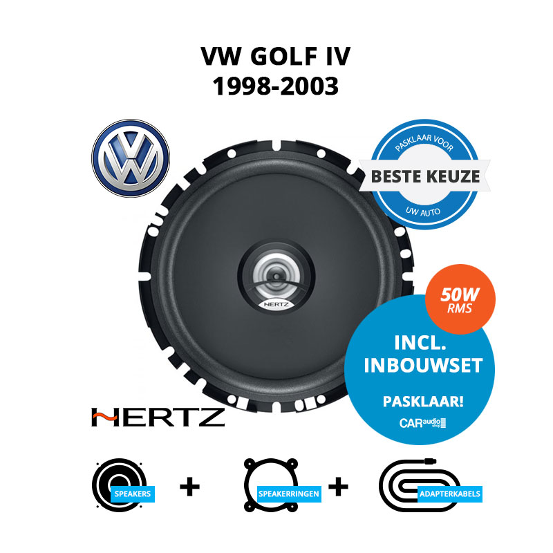 Beste speakers voor VW Golf IV 1998 2003