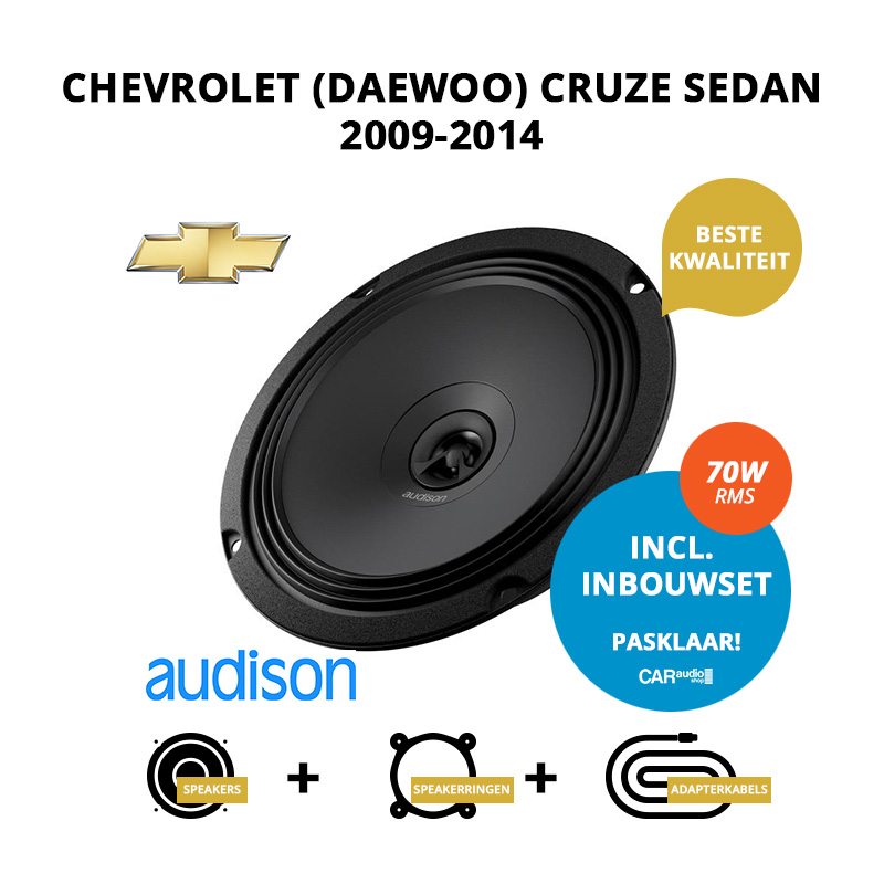 Premium speakers voor Chevrolet (Daewoo) Cruze Sedan 2009 2014