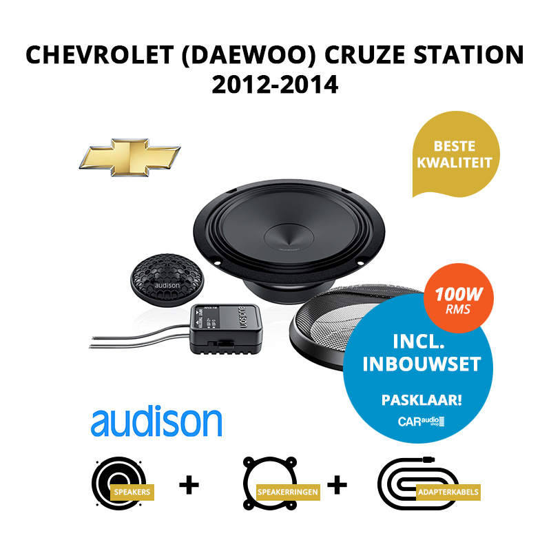 Premium speakers voor Chevrolet (Daewoo) Cruze Station 2012 2014
