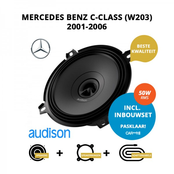 Premium speakers voor Mercedes Benz C Class (W203) 2001 2006
