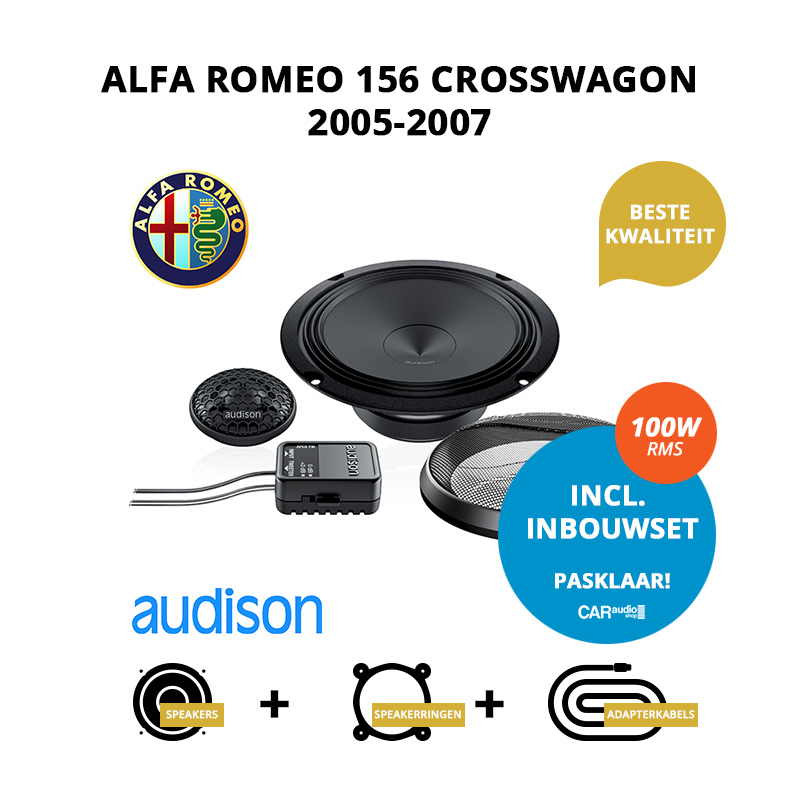 Premium speakers voor Alfa Romeo 156 Crosswagon 2005 2007