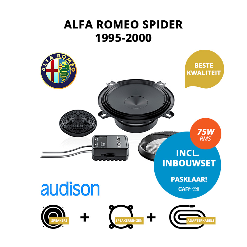 Premium speakers voor Alfa Romeo Spider 1995 2000