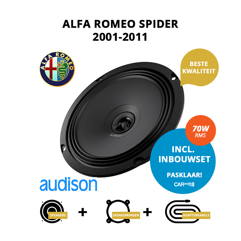 Premium speakers voor Alfa Romeo Spider 2001 2011