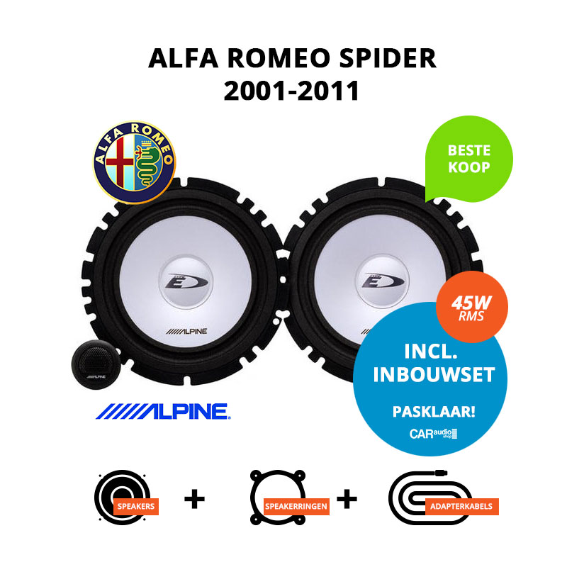 Budget speakers voor Alfa Romeo Spider 2001 2011