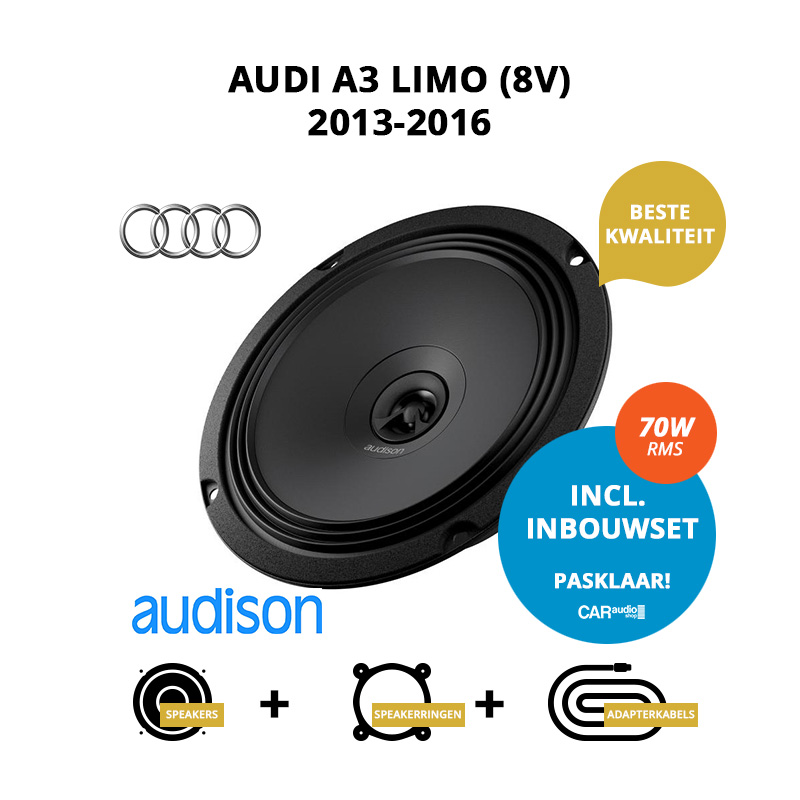 Premium speakers voor Audi A3 Limo 2013 2016 8V