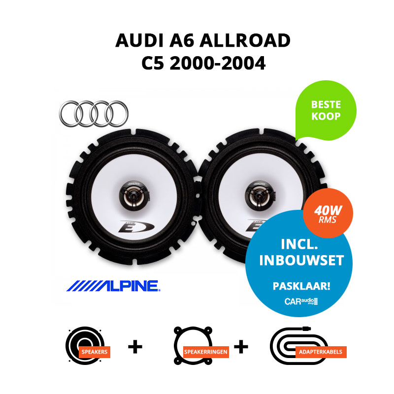 Budget speakers voor Audi A6 Allroad 2000 2004 C5