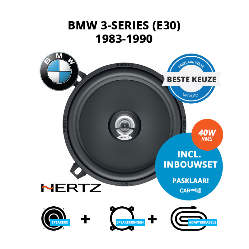 Beste speakers voor BMW 3 series 1983 1990 E30