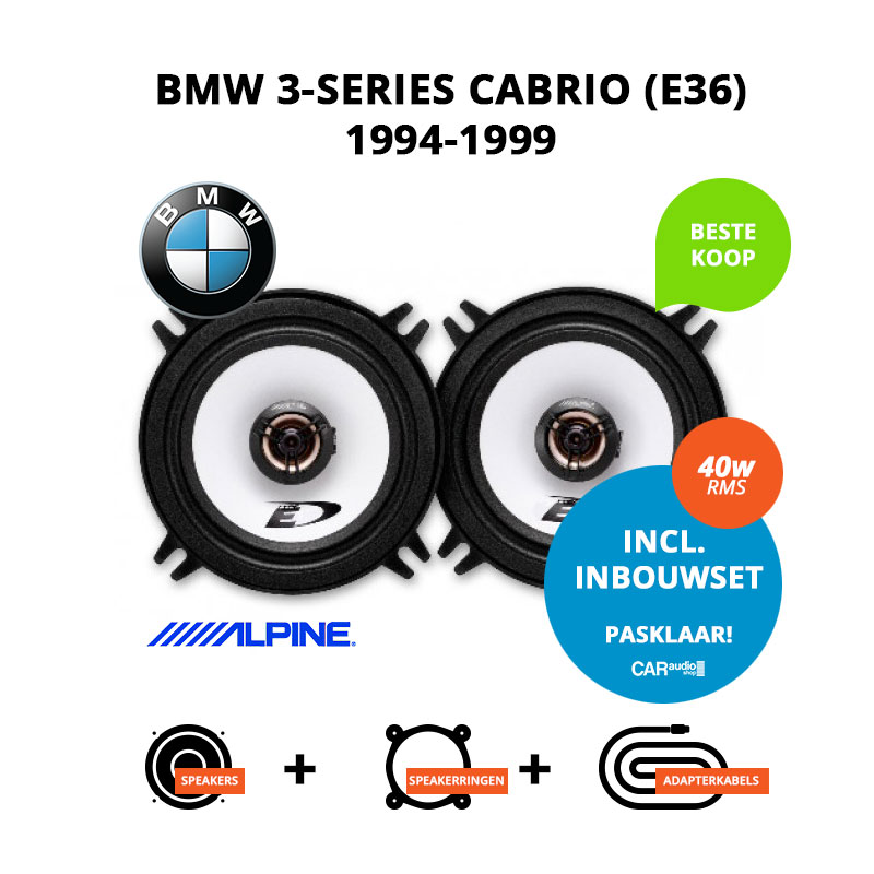 Budget speakers voor BMW 3 series Cabrio 1994 1999 E36