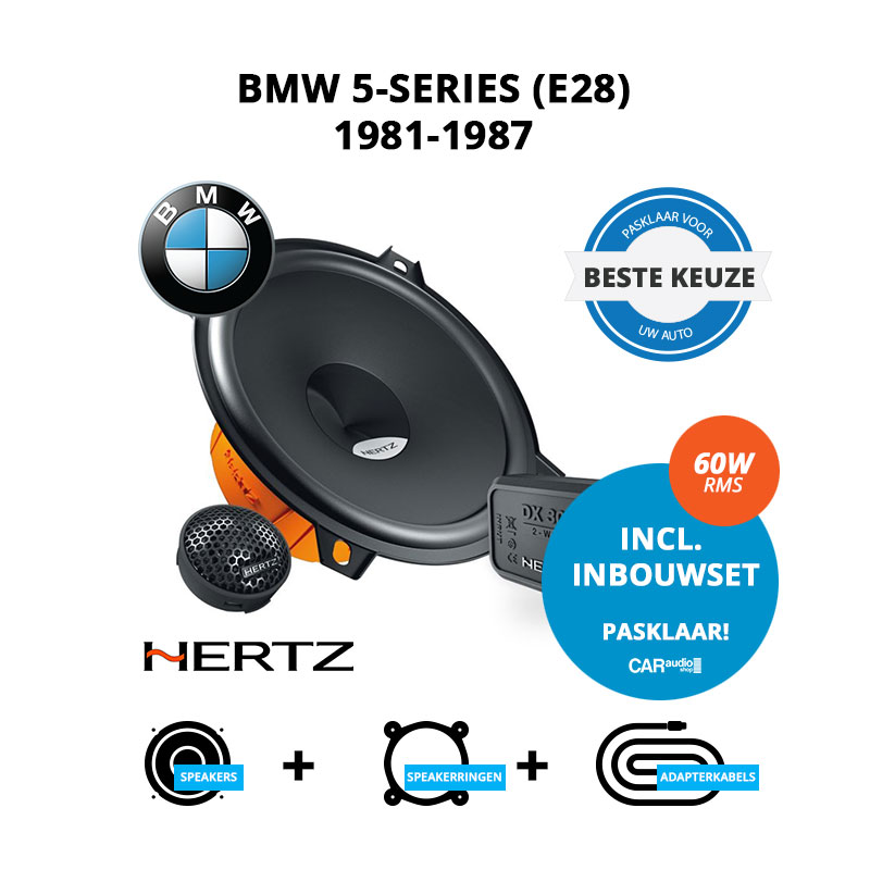 Beste speakers voor BMW 5 series 1981 1987 E28