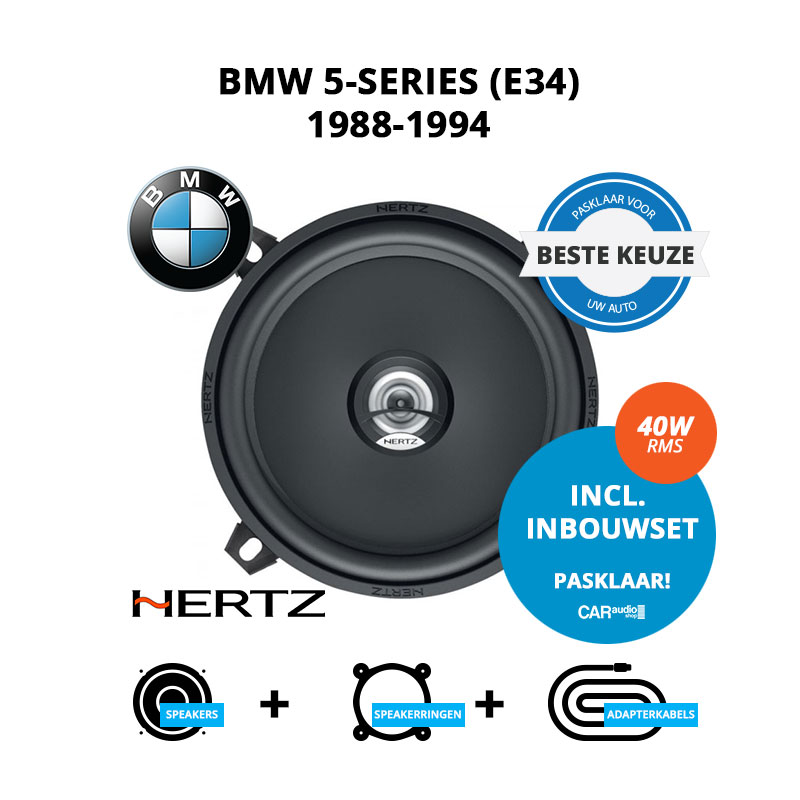Beste speakers voor BMW 5 series 1988 1994 E34
