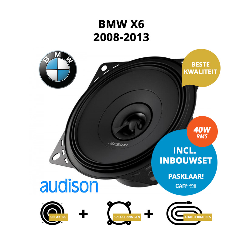 Premium speakers voor BMW X6 2008 2013 E71