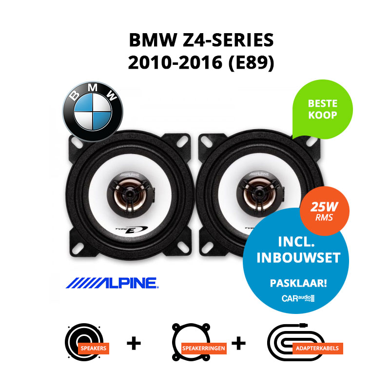 Budget speakers voor BMW Z4 series 2010 2016 E89 (roadster)