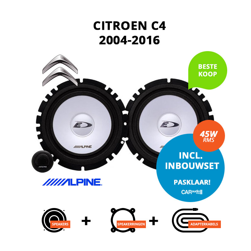 Budget speakers voor Citroen C4 2004 2016 Berline