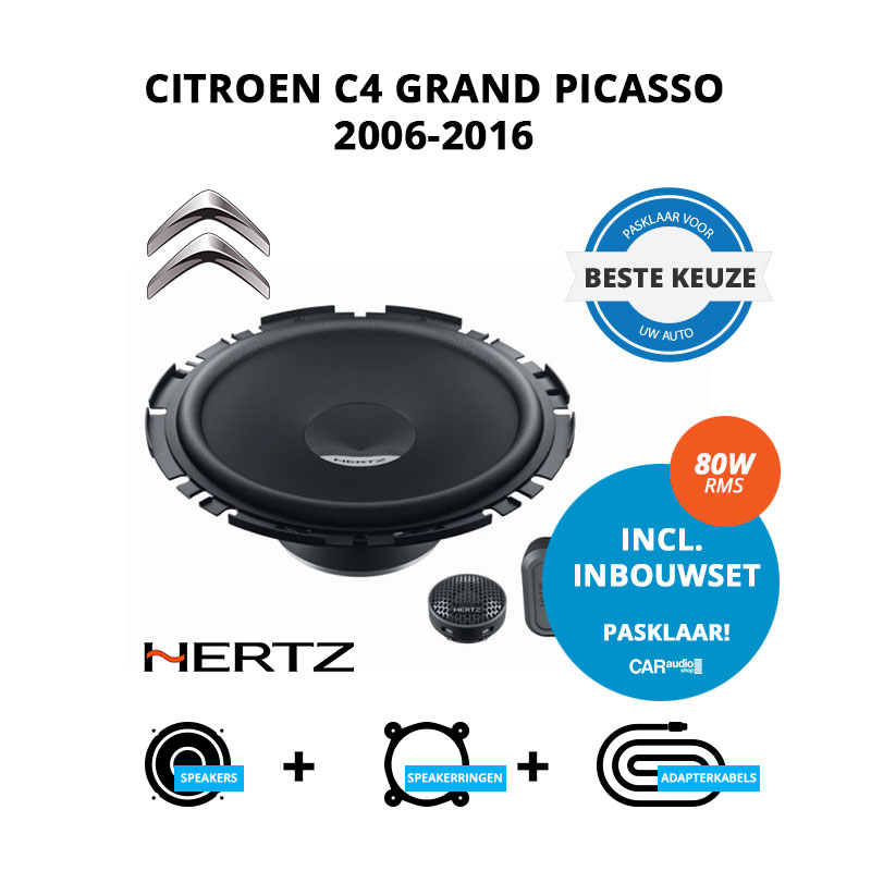 Beste speakers voor Citroen C4 Grand Picasso 2006 2016