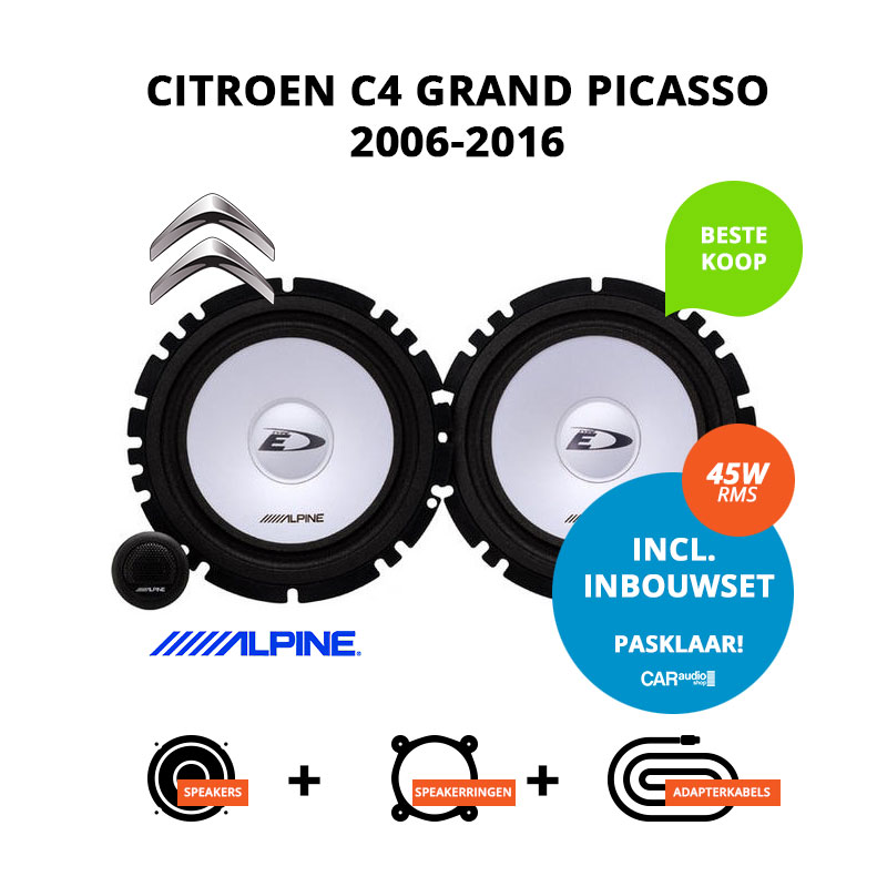 Budget speakers voor Citroen C4 Grand Picasso 2006 2016