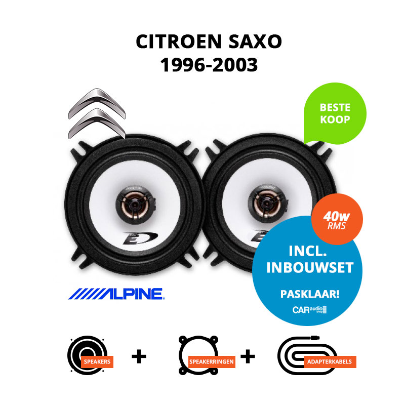 Budget speakers voor Citroen Saxo 1996 2003