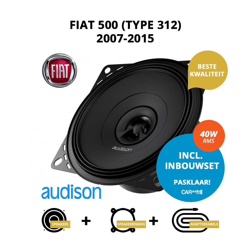 Premium speakers voor Fiat 500 2007 2015 (Type 312)