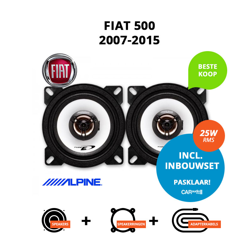 Budget speakers voor Fiat 500 2007 2015 (Type 312)