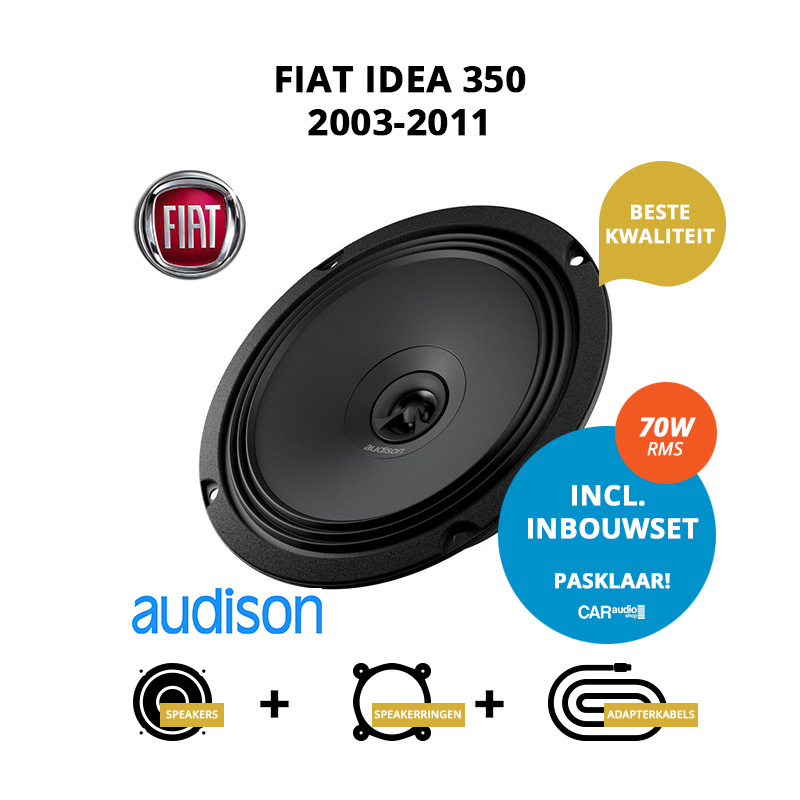 Premium speakers voor Fiat Idea 2003 2011 350