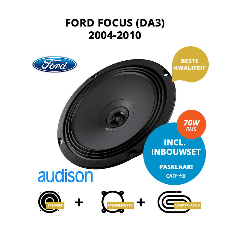 Premium speakers voor Ford Focus 2004 2010 (DA3)