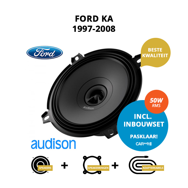 Premium speakers voor Ford Ka 1997 2008